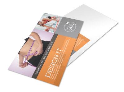 Get Lean Fitness Program Postcard Template preview