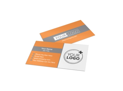 Get Lean Fitness Program Business Card Template