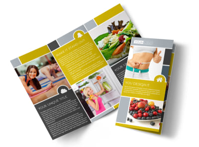 Weight Loss Program Tri-Fold Brochure Template preview