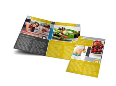 Weight Loss Program Bi-Fold Brochure Template preview
