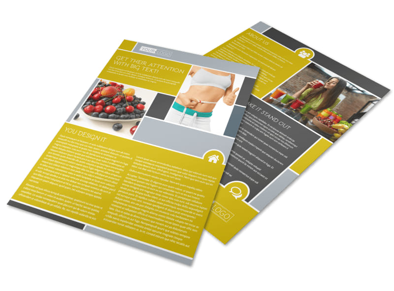 Weight Loss Program Flyer Template