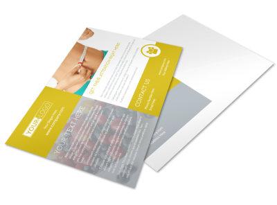 Weight Loss Program Postcard Template preview