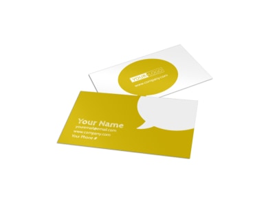 Weight Loss Program Business Card Template