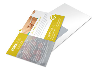 Weight Loss Program Postcard Template