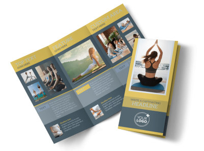Relaxing Yoga Tri-Fold Brochure Template preview