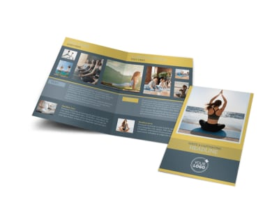 Relaxing Yoga Bi-Fold Brochure Template