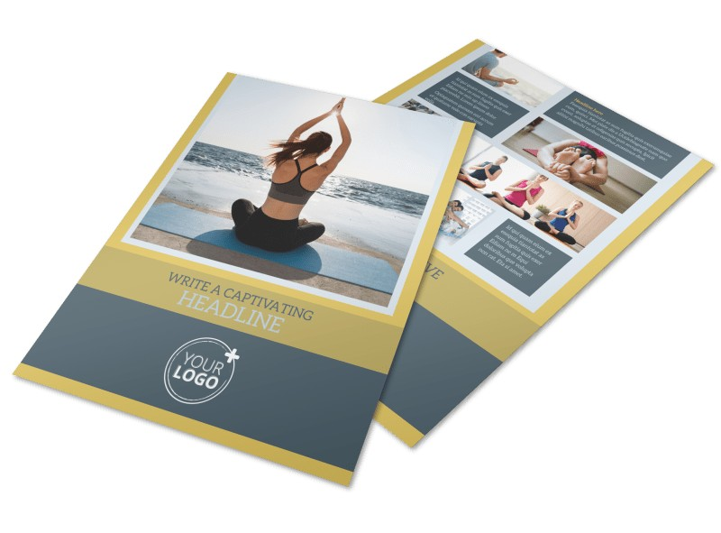 Relaxing Yoga Flyer Template
