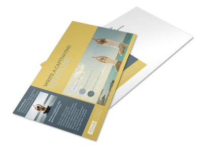 Relaxing Yoga Postcard Template