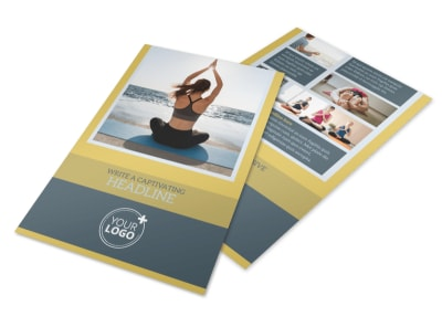 Relaxing Yoga Flyer Template preview