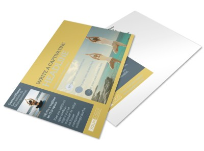 Relaxing Yoga Postcard Template preview