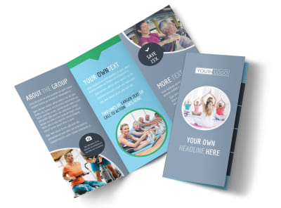 Family Gym Tri-Fold Brochure Template preview
