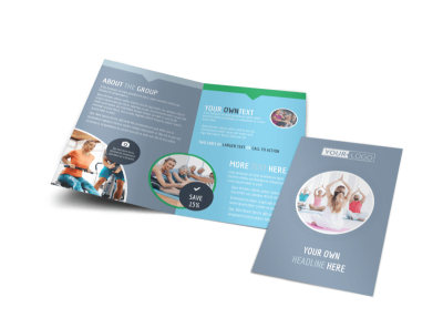 Family Gym Bi-Fold Brochure Template
