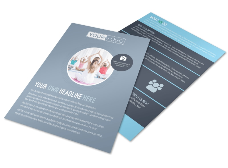 Family Gym Flyer Template