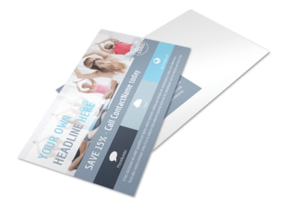 Family Gym Postcard Template