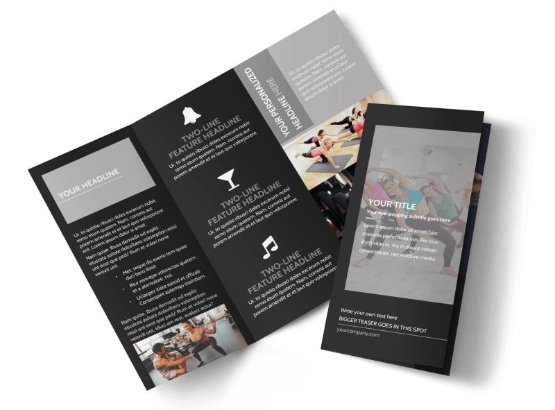 Wellness Center Tri-Fold Brochure Template