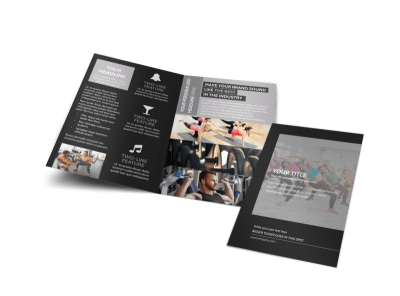 Wellness Center Bi-Fold Brochure Template