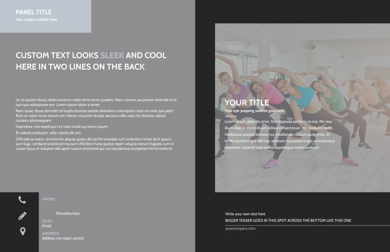 Wellness Center Brochure Template Preview 2