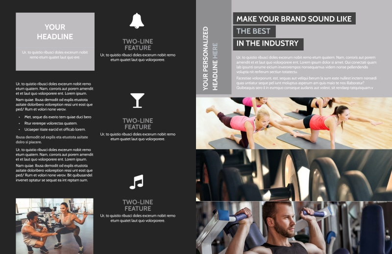 Wellness Center Brochure Template Preview 3