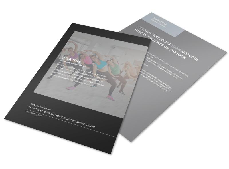 Wellness Center Flyer Template