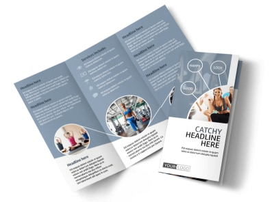 Get Fit Gym Tri-Fold Brochure Template preview