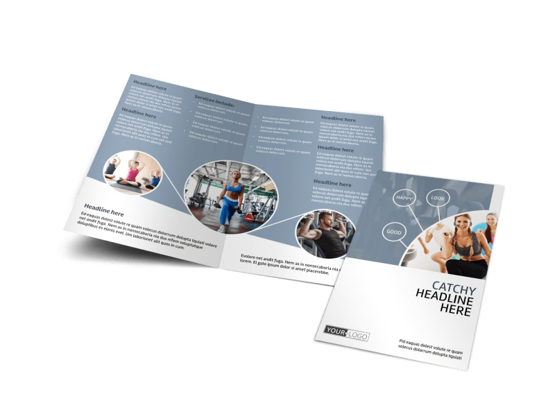 Get Fit Gym Bi-Fold Brochure Template