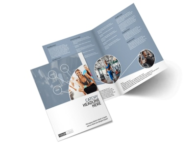 Get Fit Gym Bi-Fold Brochure Template preview