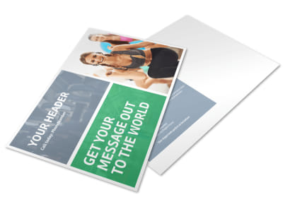 Get Fit Gym Postcard Template preview