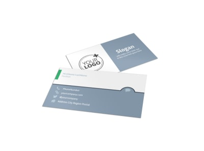 Get Fit Gym Business Card Template preview