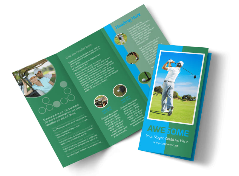 Popular Golf Tournament Brochure Template Mycreativeshop