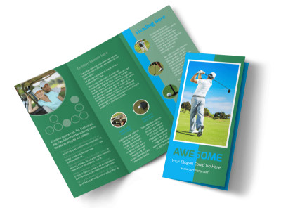 Popular Golf Tournament Tri-Fold Brochure Template