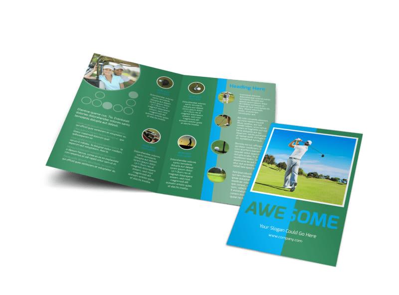 Popular Golf Tournament Bi-Fold Brochure Template