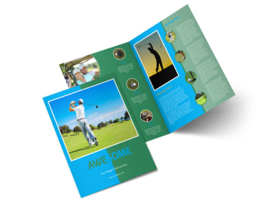 Popular Golf Tournament Bi-Fold Brochure Template