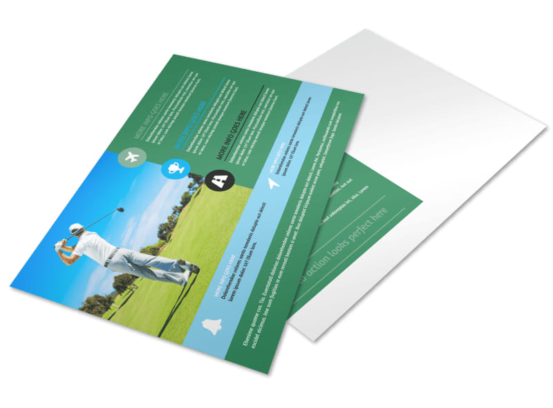Popular Golf Tournament Postcard Template