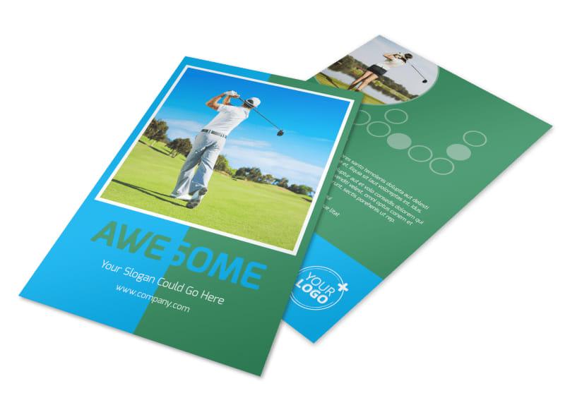 Popular Golf Tournament Flyer Template