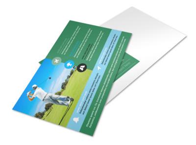 Popular Golf Tournament Postcard Template