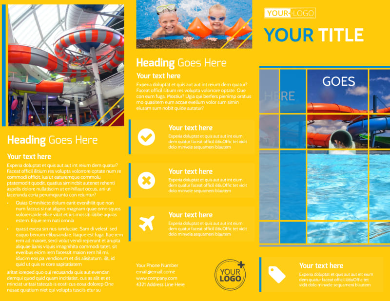 Water Park Brochure Template Preview 2