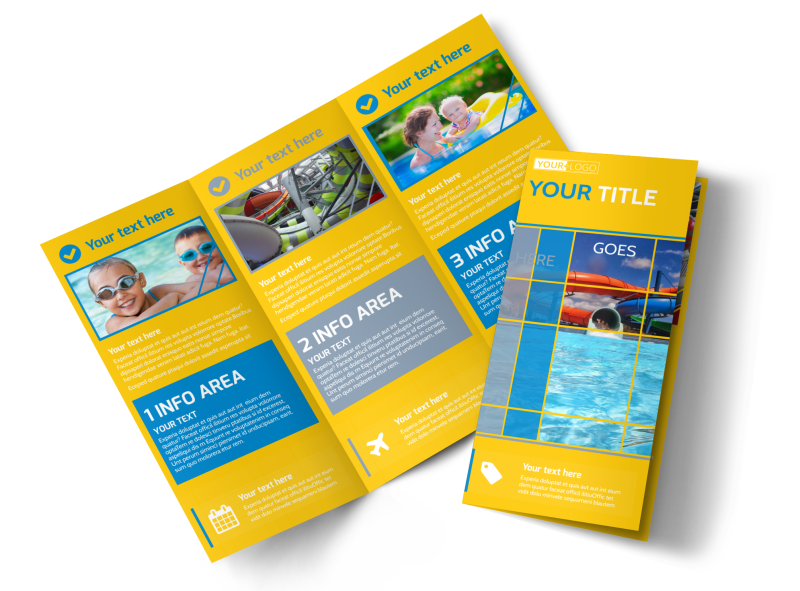 Water Park Brochure Template Preview 1