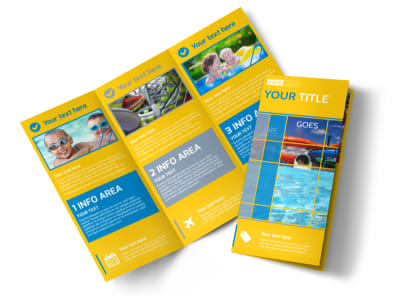 Water Park Tri-Fold Brochure Template