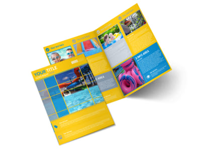 Water Park Bi-Fold Brochure Template preview
