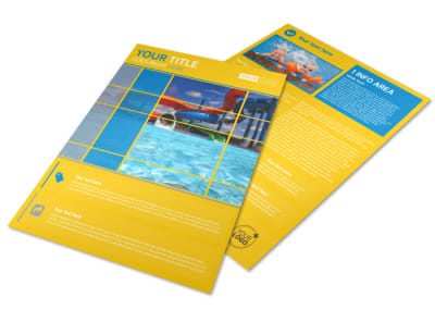 Water Park Flyer Template preview