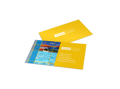 Water Park Business Card Template preview