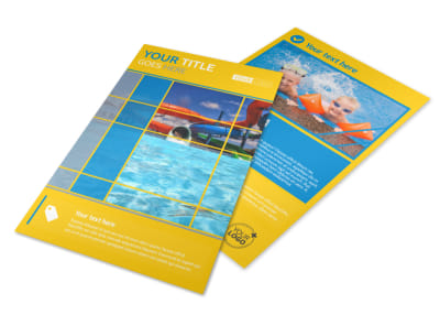 Water Park Flyer Template