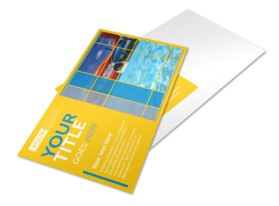 Water Park Postcard Template preview
