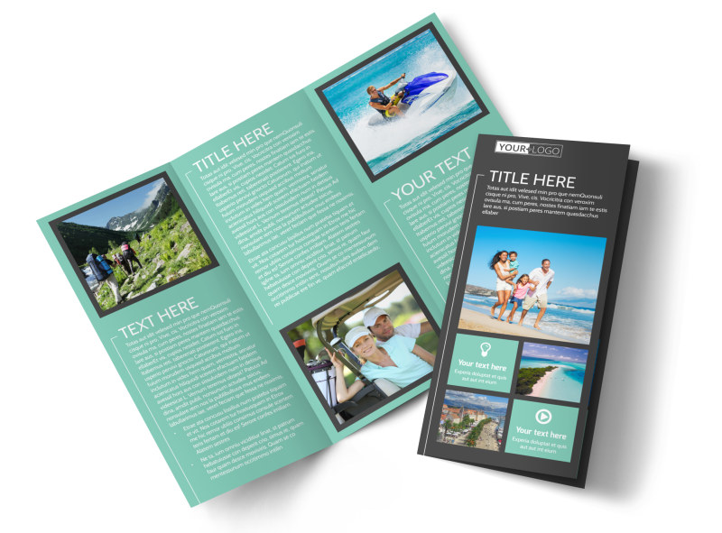 Guided Vacations Tri-Fold Brochure Template