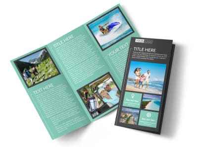 Guided Vacations Tri-Fold Brochure Template preview