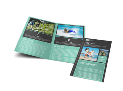 Guided Vacations Bi-Fold Brochure Template preview