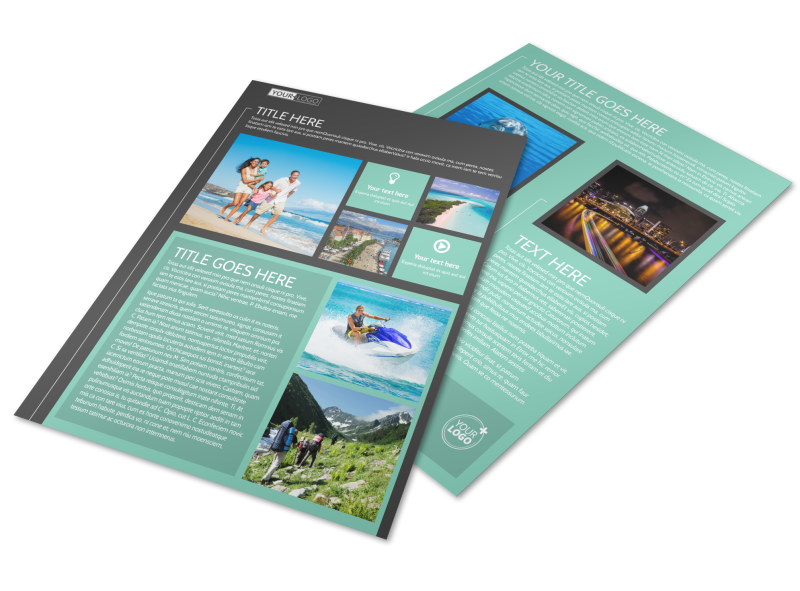 Guided Vacations Flyer Template