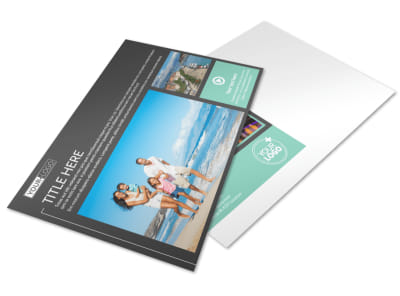 Guided Vacations Postcard Template preview
