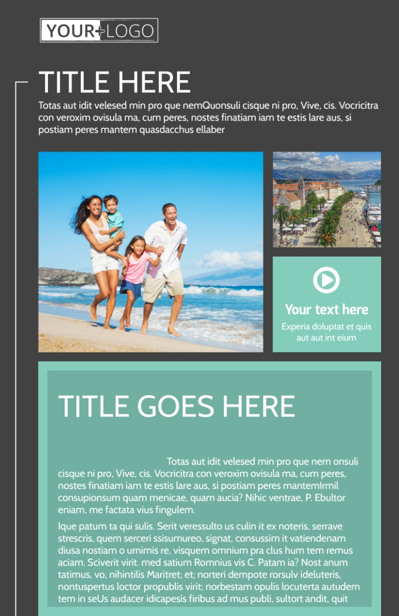 Guided Vacations Flyer Template Preview 2