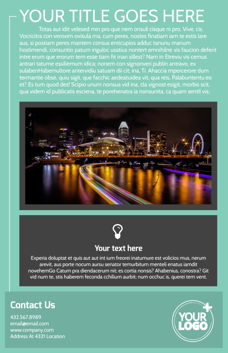 Guided Vacations Flyer Template Preview 3